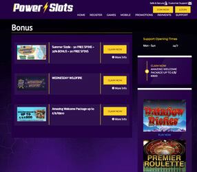 casino lobby Power Slots Casino